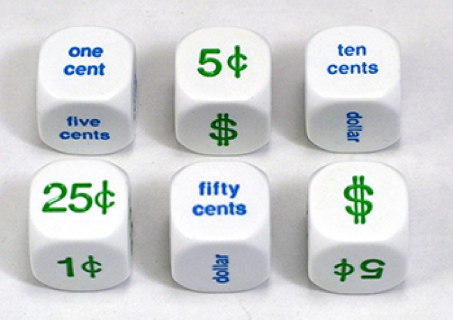 MONEY DICE SET OF 6 20MM