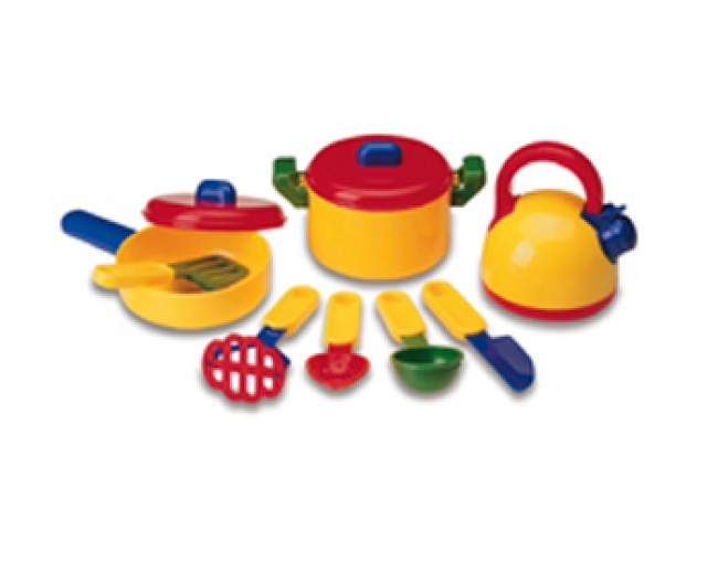 PRETEND & PLAY COOKING SET 10 PCS