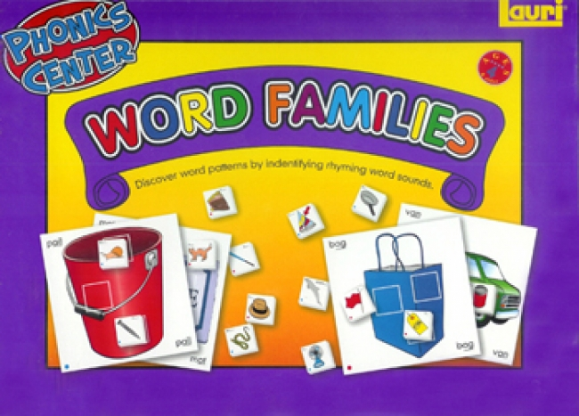 WORD FAMILIES PHONICS LEARNING  CENTER KIT