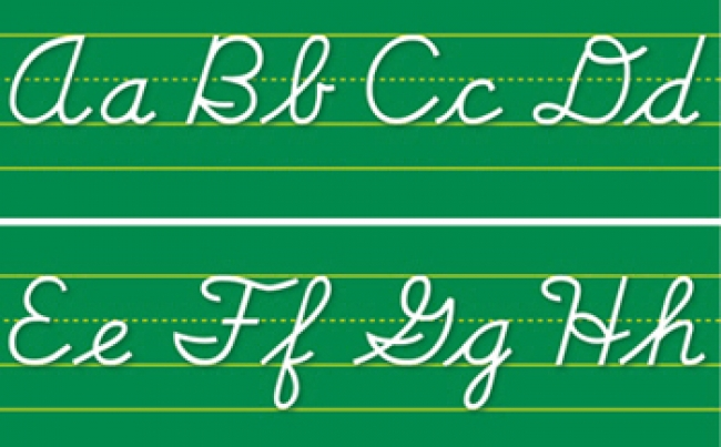ALPHABET LINES CONTEMPORARY CURSIVE