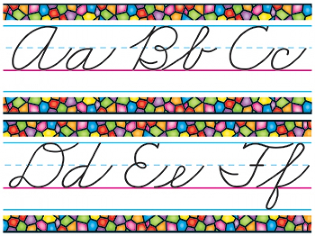 BB SET STAINED GLASS CURSIVE  ALPHABET LINE Z-B