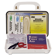 C-10 PERSON PLASTIC FIRST-AID KIT W/EYEWASH