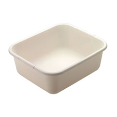ANTIMICROBIAL DISHPANWHITE, 6/CASE