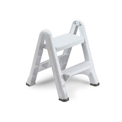 FOLDNG STEPSTOOL WHITE2-STEP
