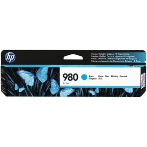 HP 980 Cyan Original Ink Cartridge for US Government (6,600 Yield) (TAA Compliant Version of D8J07A)