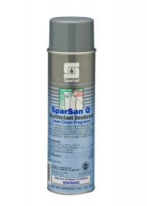 SparSan Q Disinfectant Deodorant Linen Clean Fragrance - 12-20 Oz.Can