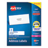 Easy Peel White Address Labels w/ Sure Feed Technology, Laser Printers, 1 x 4, White, 20/Sheet, 100 Sheets/Box