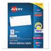 Easy Peel White Address Labels with Sure Feed Technology, Laser Printers, 0.5 x 1.75, White, 80/Sheet, 100 Sheets/Box