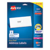 Easy Peel White Address Labels with Sure Feed Technology, Laser Printers, 1 x 2.63, White, 30/Sheet, 25 Sheets/Pack