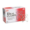 Ideal Clamps, Small (No. 2), Silver, 50/Box
