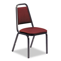 8926 Series Vinyl Upholstered Stack Chair, 18w x 22d x 34-1/2h, Wine/Black, 4/CT