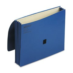 "ColorLife 3"" Expansion Wallets with Velcro Gripper, Letter, Dark Blue"