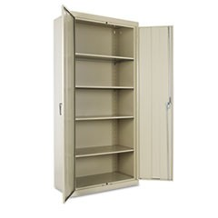 "Assembled 78"" High Storage Cabinet, w/Adjustable Shelves, 36w x 18d, Putty"
