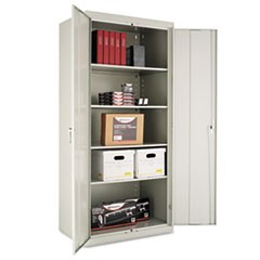 "Assembled 78"" High Storage Cabinet, w/Adjustable Shelves, 36w x 24d, Light Gray"