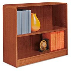 Radius Corner Wood Bookcase, Two-Shelf, 35-5/8w x 11-3/4d x 30h, Medium Cherry