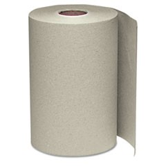 Nonperforated Paper Towel Roll, 8 x 350ft, Brown, 12 Rolls/Carton