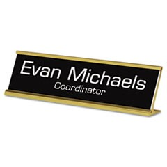 Custom Desk/Counter Sign, 2x8, Gold Frame