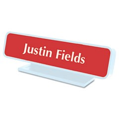 Architectural Desk Sign with Name Plate, Gray, Radius Edge