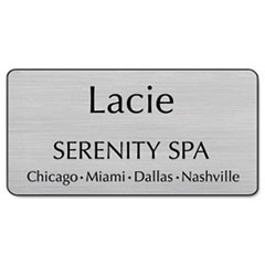 Customized Engraved Name Badge With Magnetic Fastener, 1 1/2 x 3, Assorted