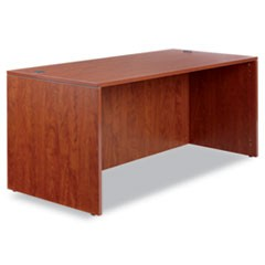 Valencia Series Straight Front Desk Shell, 65w x 29 1/2d x 29 1/2h, Med Cherry
