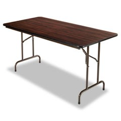 Wood Folding Table, Rectangular, 60w x 30d x 29h, Mahogany