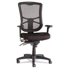Elusion Series Mesh High-Back Multifunction Chair, Black