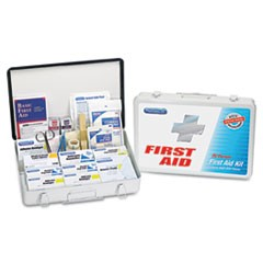 First Aid Kit for up to 75 People, Metal, 419 Pieces/Kit