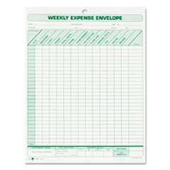 Weekly Expense Envelope, 8 1/2 x 11, 20 Forms