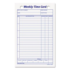 Employee Time Card, Weekly, 4 1/4 x 6 3/4, 100/Pack