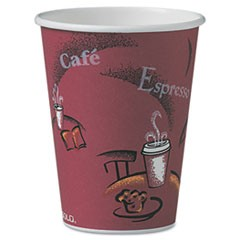 Solo Bistro Design Hot Drink Cups, Paper, 12oz, 300/Carton