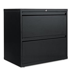 Two-Drawer Lateral File Cabinet, 30w x 19-1/4d x 28-3/8h, Black