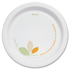 "Bare Paper Eco-Forward Dinnerware, 6"" Plate, Green/Tan, 500/Carton"