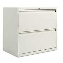 Two-Drawer Lateral File Cabinet, 30w x 18d x 28 3/8h, Light Gray