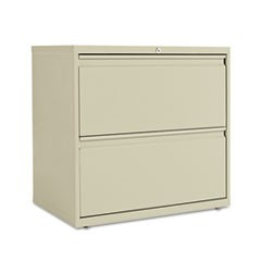Two-Drawer Lateral File Cabinet, 30w x 19-1/4d x 28-3/8h, Putty