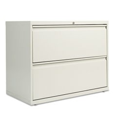 Two-Drawer Lateral File Cabinet, 36w x 18d x 28h, Light Gray