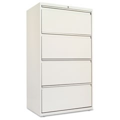 Four-Drawer Lateral File Cabinet, 30w x 18d x 52 1/2h, Light Gray