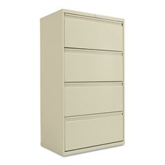 Four-Drawer Lateral File Cabinet, 30w x 18d x 53 1/4h, Putty