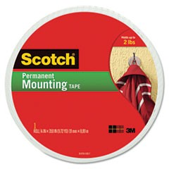 "Foam Mounting Double-Sided Tape, 3/4"" Wide x 350"" Long"