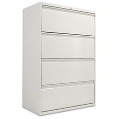 Four-Drawer Lateral File Cabinet, 36w x 18d x 52 1/2h, Light Gray