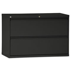 Two-Drawer Lateral File Cabinet, 42w x 18d x 28 3/8h, Black