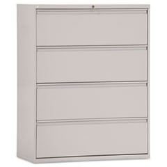 Four-Drawer Lateral File Cabinet, 42w x 19-1/4d x 53-1/4h, Light Gray