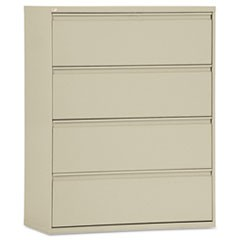 Four-Drawer Lateral File Cabinet, 42w x 18d x 52.5h, Putty