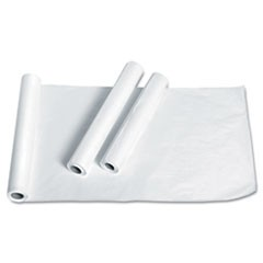 "Exam Table Paper, Deluxe Smooth, 18"" x 225ft, White, 12 Rolls/Carton"