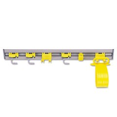 Rubbermaid  Commercialcloset Organizer/Tool Holder, 34W X 3.25D X 4.25H, Gray