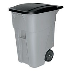 50 GAL RUBBERMAID ROLL-OUT CONTAINER, GRA