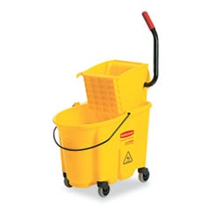 Wavebrake 26 Quart Side Press Mop Bucket & Wringer Combo, Yellow