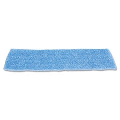"Economy Wet Mopping Pad, Microfiber, 18"", Blue"