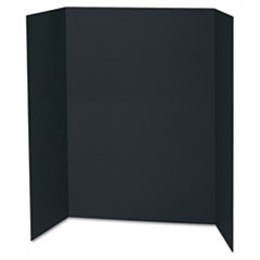 Spotlight Corrugated Presentation Display Boards, 48 x 36, Black, 24/Carton
