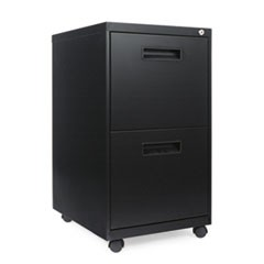 Two-Drawer Metal Pedestal File, 14 7/8w x 19-1/8d x 27-3/4h, Black