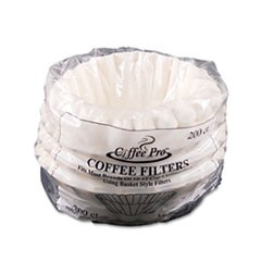 Coffee Probasket Filters For Drip Coffeemakers, 10 To 12-Cups, White, 200 Filters/Pack